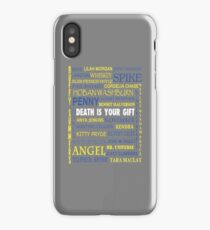 Joss Whedon - Death Is Your Gift  iPhone Case/Skin