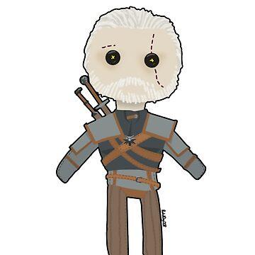 Geralt of Rivia Rag Doll by RabidDog008