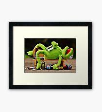 drunk Kermit  Framed Print
