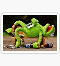 drunk Kermit  Sticker