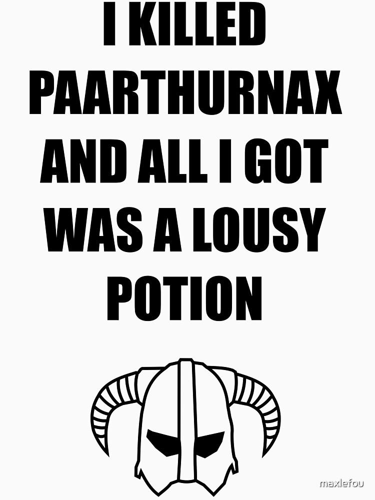 «Skyrim - I killed Paarthurnax» par maxlefou