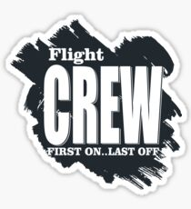 First Flight Crew  Sticker