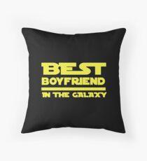 Best Boyfriend in the Galaxy Throw Pillow