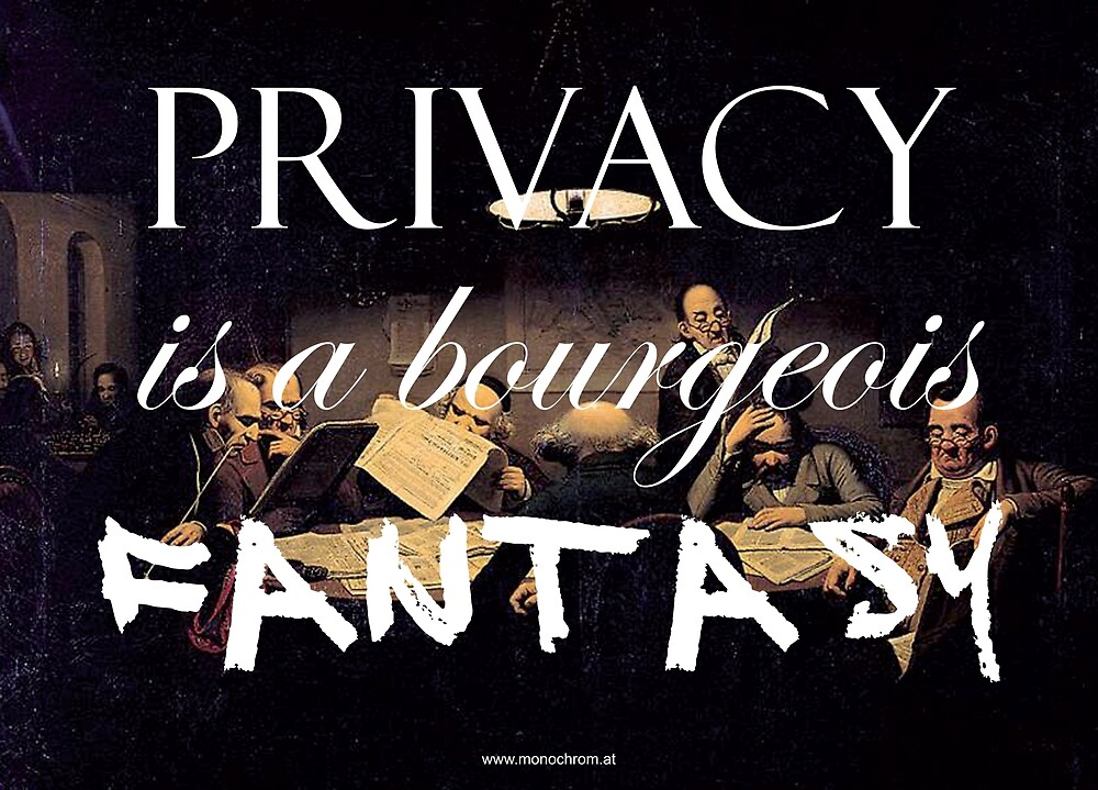 Privacy is a bourgeois fantasy by Johannes Grenzfurthner