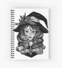 Witch of pumpkin Spiral Notebook