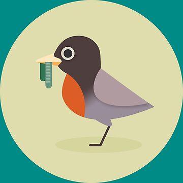 American Robin by mpriorpfeifer