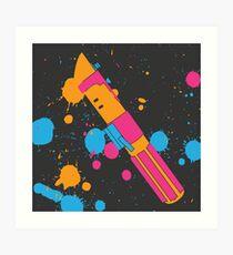 Darth Vader Lightsaber Paint Splatter (Full Color) Art Print