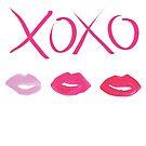 XOXO girly gift watercolor by lolipoptalia