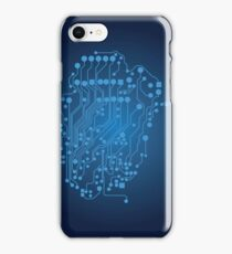 Human brain, logical thinking iPhone Case/Skin