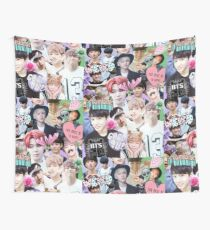 kpop collage Wall Tapestry