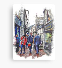 Lunchtime in The Lanes Brighton Metal Print
