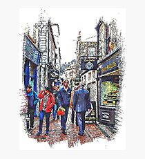 Lunchtime in The Lanes Brighton Photographic Print