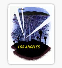 Vintage Airline Los Angeles California Travel Sticker