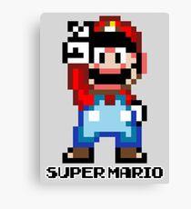 Super Mario 16 bit Victory Pose Canvas Print