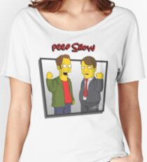 Peep Show - El Dude Brothers - Simpsons Style! Women's Relaxed Fit T-Shirt