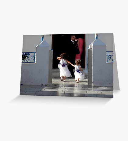 Flowergirls dash Greeting Card