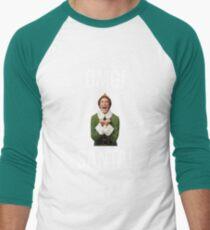 OMG SANTA! Funny Elf Christmas  Men's Baseball ¾ T-Shirt