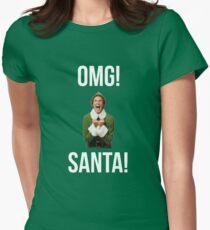 OMG SANKT! Lustiges Elfenweihnachten Tailliertes T-Shirt für Frauen