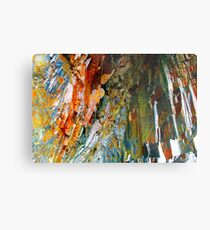 Cave Copper Grey Stone Geology Metal Print