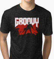 Doomy and Groovy Tri-blend T-Shirt