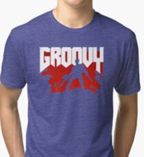 Doomy and Groovy Tri-blend T-Shirt