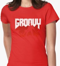 Doomy and Groovy Womens Fitted T-Shirt