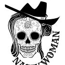 Nasty Woman Skull - Just in time for Halloween and Dia de Muertos by borderbandit
