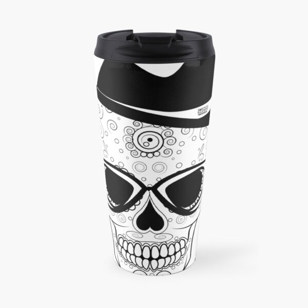 Bad Hombre Skull - Just in time for Halloween and Dia de Muertos Travel Mug