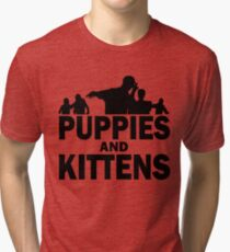 Z Nation: Puppies and Kittens Tri-blend T-Shirt