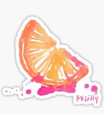 lilly pulitzer orange preppy Sticker