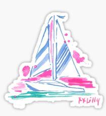 lilly pulitzer sailboat preppy Sticker