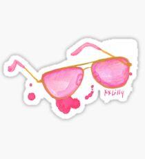 lilly pulitzer glasses preppy Sticker