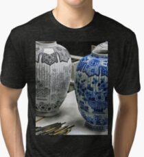 ceramic vases- Delftware factory Tri-blend T-Shirt