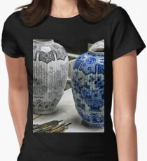 ceramic vases- Delftware factory Women's Fitted T-Shirt