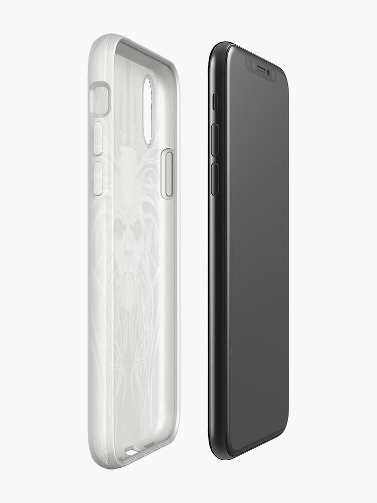Alternate view of Cthulhu / Kraken Nightmare in Monochrome iPhone Case & Cover