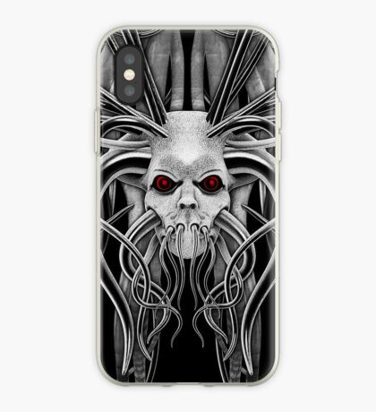 Cthulhu / Kraken Nightmare in Monochrome iPhone Case