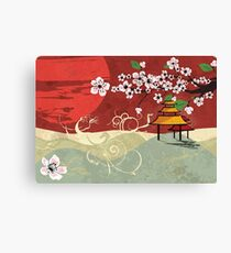 Traditional Japanese landscape Canvas Print
