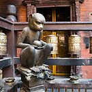 Monkey in a Buddhist temple by Clara Go (missatgerebut)