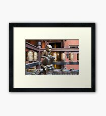 Monkey in a Buddhist temple Framed Print