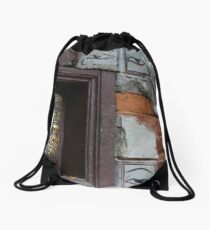 Bell and buddha eyes in a buddhist temple Drawstring Bag