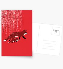Fox mom and baby Postcards