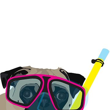 Snorkel Pug, Snorkel Pug! Does whatever a snorkel pug does!!! by mpflies2