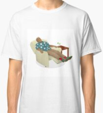 Black man wearing hawiian shirt Classic T-Shirt
