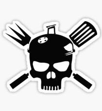 Grill Skull Sticker