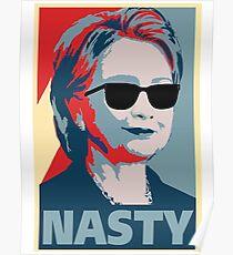 Hillary Clinton eine böse Frau Abstimmung im Jahr 2016 Poster