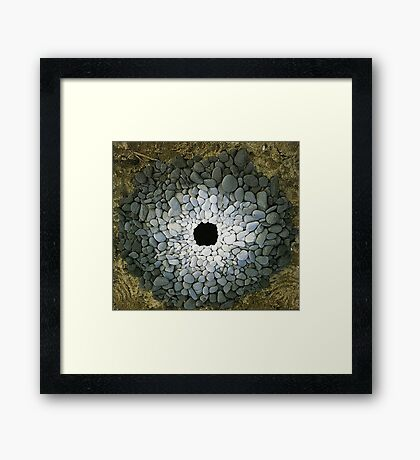 Land Art - Andy Goldsworthy Framed Print