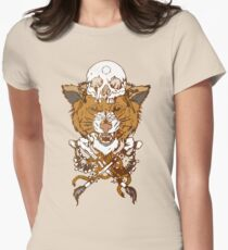 Sabertooth Tiger Womens Fitted T-Shirt