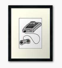 SNES - SUPER NINTENDO Framed Print
