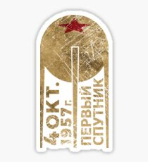 CCCP Sputnik 1 First Satellite Sticker