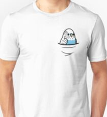 Too Many Birds! - Blue Budgie Unisex T-Shirt